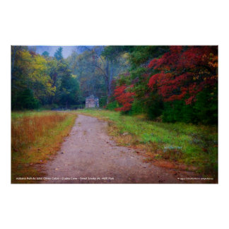 Poster - Autumn Path to John Oliver Cabin ...
