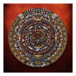 Poster azteca del calendario
