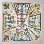 Poster azteca del cosmos póster