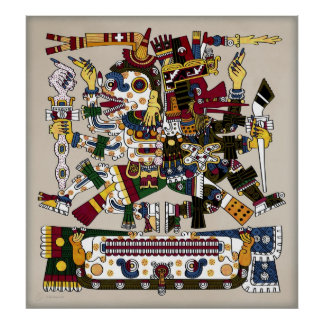 Poster azteca del equilibrio