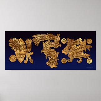 Poster azteca del oro