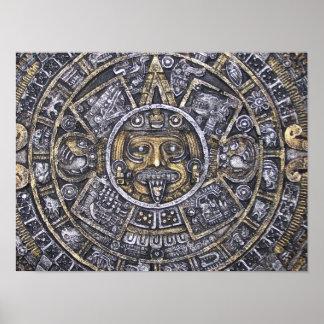 Poster azteca/maya del calendario