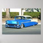 Poster azul clásico del coche
