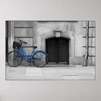 Poster azul de la bicicleta