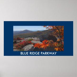 Poster azul de la foto de la ruta verde de Ridge