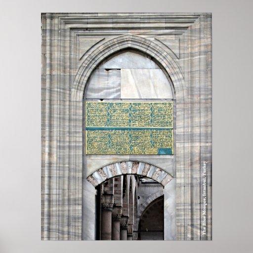 Poster azul de la mezquita
