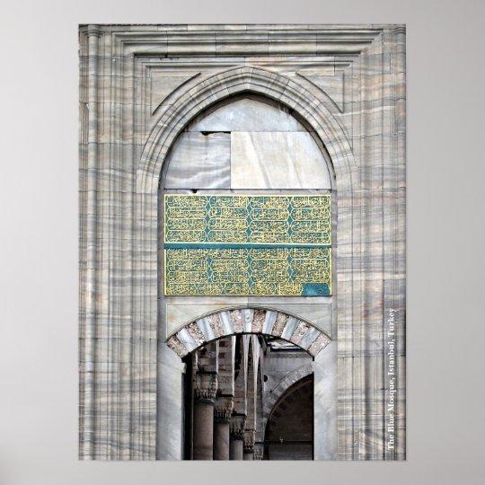Poster azul de la mezquita póster