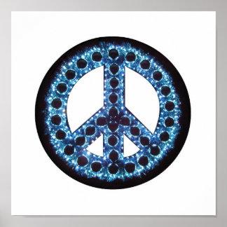 poster azul de la paz