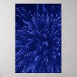 Poster azul de los fuegos artificiales (2)