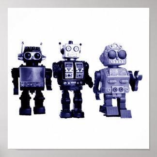 poster azul de los robots