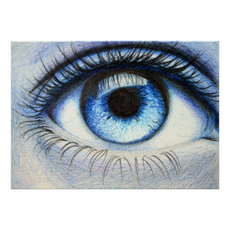 Poster azul de sensación