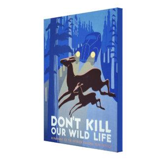 Poster azul de WPA de los parques nacionales de la Lona Estirada Galerías