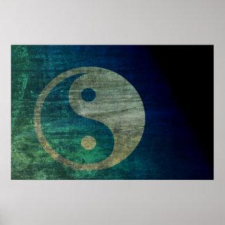 Poster azul de Yin Yang