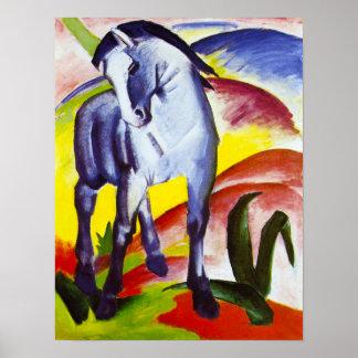 Poster azul del caballo de Franz Marc