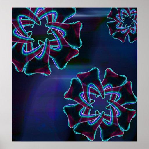 Poster azul del Dentista-Orthodontist de la flor