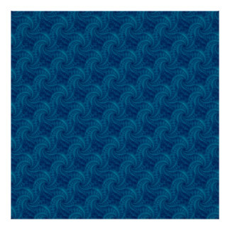 Poster azul del espiral de la estela de vapor