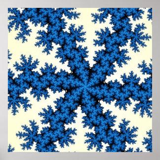 Poster azul del fractal de China