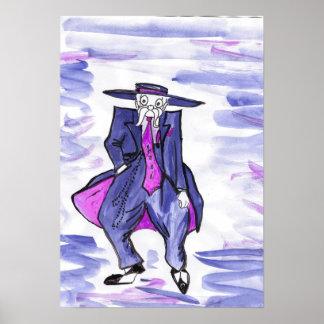 Poster azul del juego   de Lolo Zoot del viejo hom