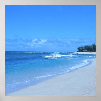 Poster azul del océano