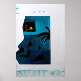 Poster azul del sitio 2 del libro del artista de