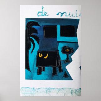 Poster azul del sitio del libro del artista de