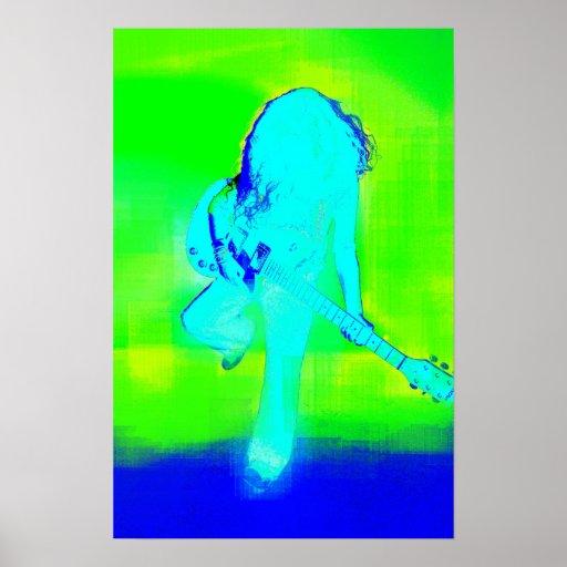 Poster azul eléctrico