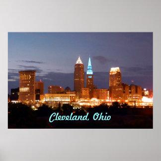 Poster azul fresco de Cleveland Ohio