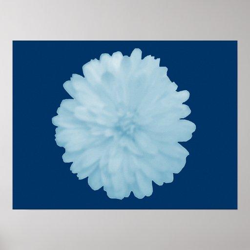 Poster azul helado de la maravilla
