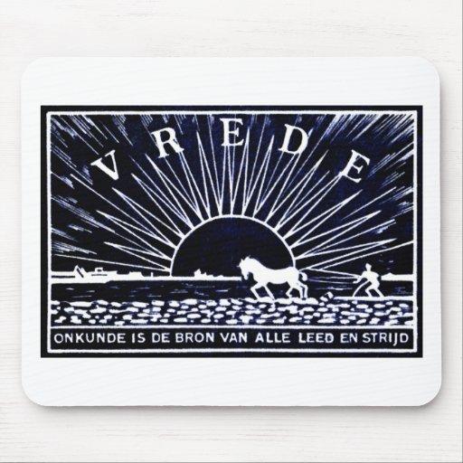 Poster azul marino 1910 de la paz tapete de ratones