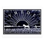 Poster azul marino 1910 de la paz tarjetas postales