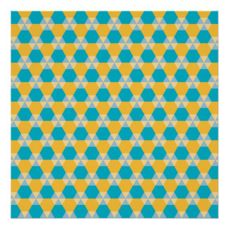 Poster azul y amarillo del equipo de submarinismo