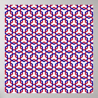 Poster azul y rojo de los maleficios