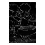Poster B/W Drumset 1