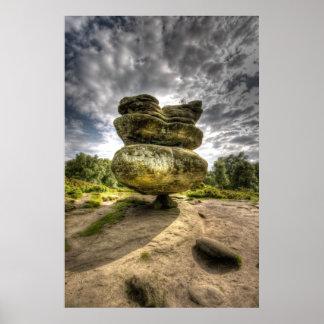 Poster bajo de HDR Sturation de la roca del ídolo