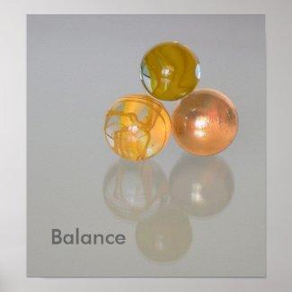 Poster - Balance - orange marbles