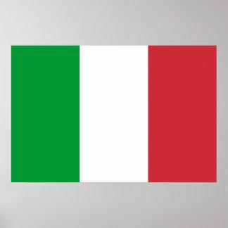 Poster: Bandera de Italia Póster
