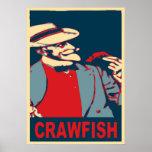 Poster barbudo del hombre de los cangrejos