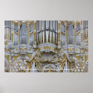 Poster barroco del órgano de la abadía