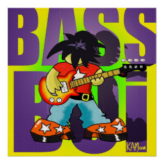 """Poster """"Bass Boi"""" - by Kev Moore"""