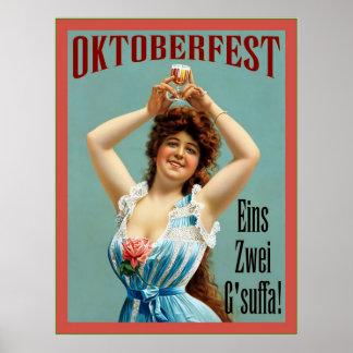 Poster bávaro de la publicidad del vintage del d