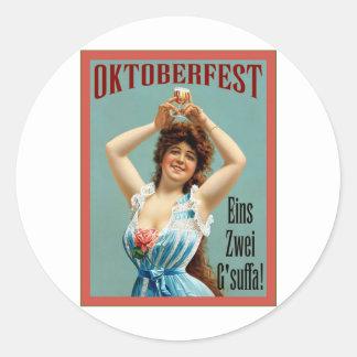 Poster bávaro de la publicidad del vintage del ~ etiquetas redondas