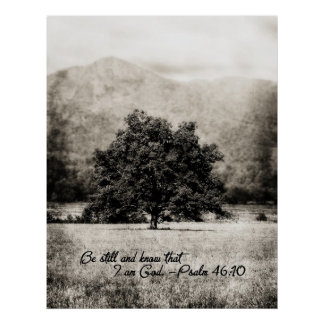 Poster-Be Still and Know that I am God Poster