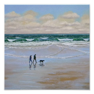 Poster ~ Beach Dog Walk