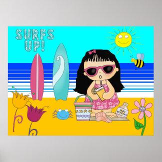 Poster Beach Girl Kid's Children