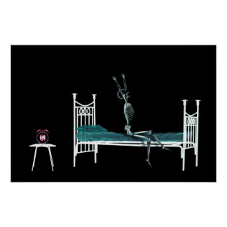 Poster - Bedtime X-Ray Skeleton Original