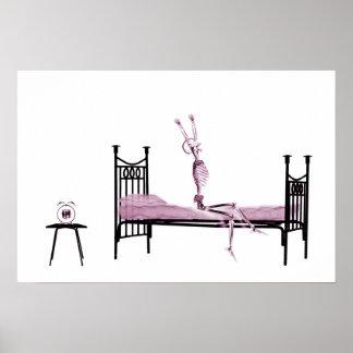 Poster - Bedtime X-Ray Skeleton Pink