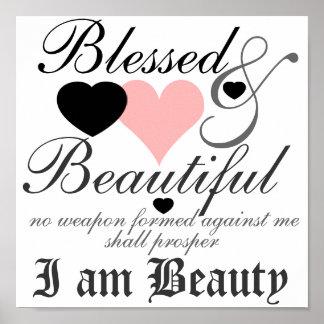Poster bendecido y hermoso