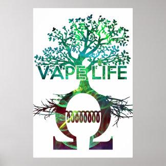 Poster BG blanca de la vida de Vape
