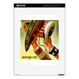 Poster bicultural de Americanos Todos WWII Pegatina Skin Para iPad 3