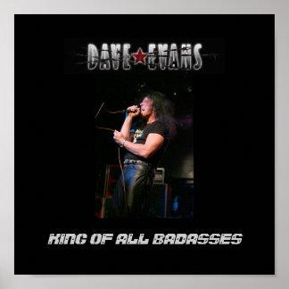 Poster,black/gray Dave Evans- King Of All Badasses Poster